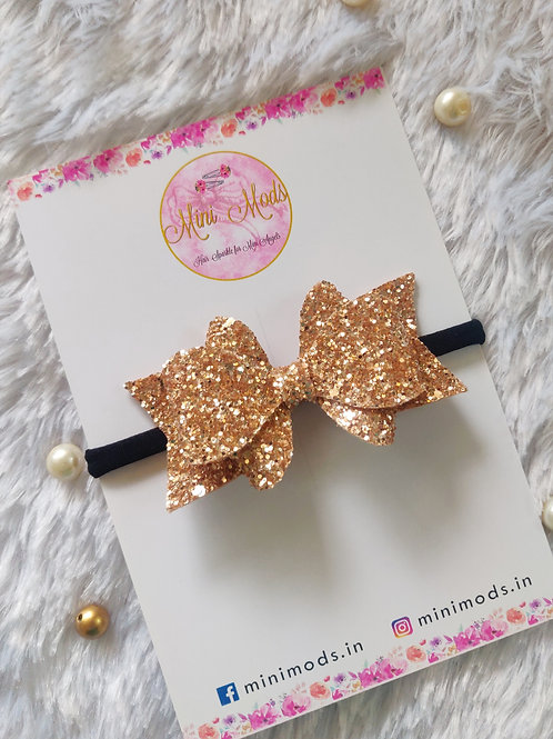 Princess Sparkle Bow -Rose Gold