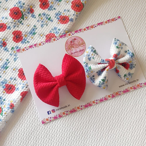 Poppy Sweetheart Bow Set