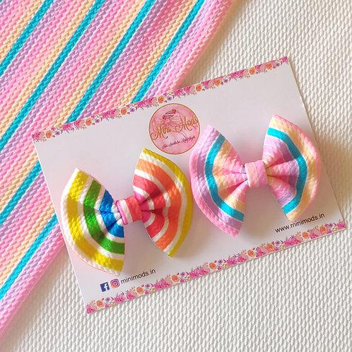 Rainbow Sweetheart Bow Set