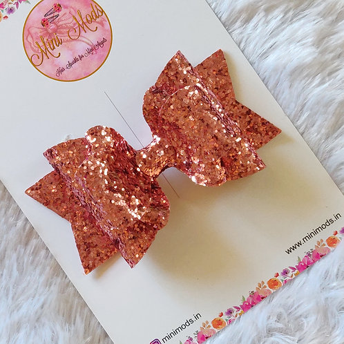 Glitzy Beauty Bow - Rose Pink