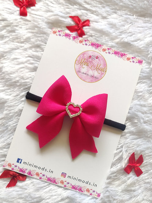 Pure Love Bow - Hot Pink