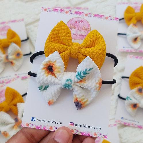 Sunflower Hairtie Set