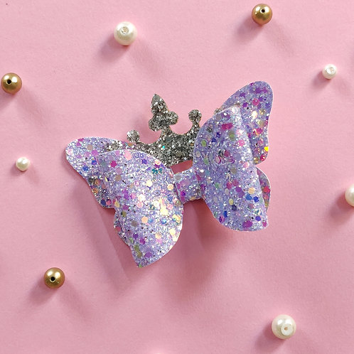 Princess Crown Bow - Lilac