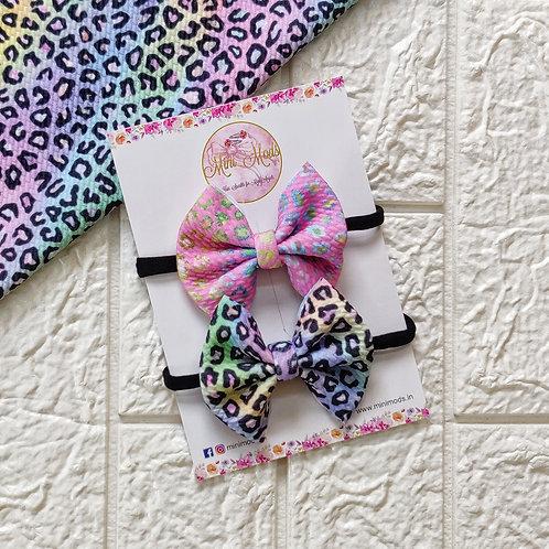 Pastel Leopard Headband Set