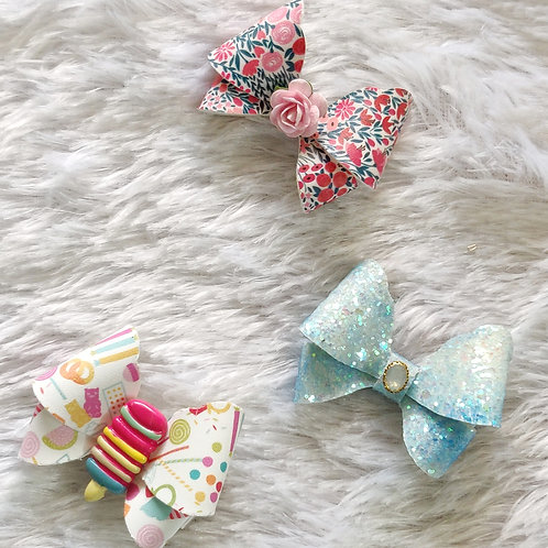 Candy Butterfly Bow Clip Combo