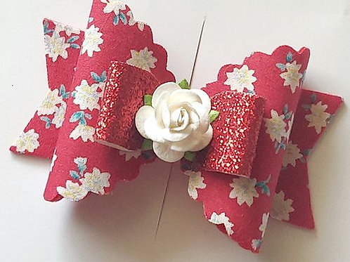 Floral Magic Bow Clip