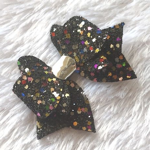 Princess Sparkle Bow Clip - Black