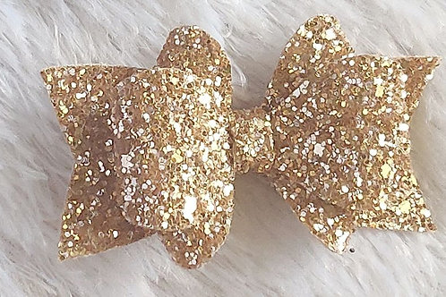Princess Sparkle Bow Clip -Rose Gold