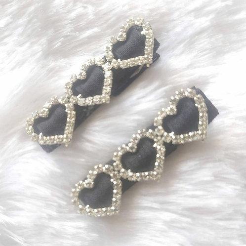 Black Heart Clip Set