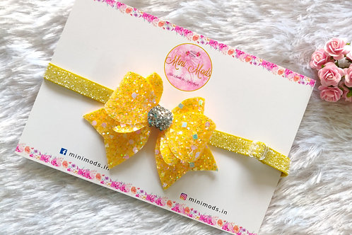 Princess Sparkle Bow - Yellow