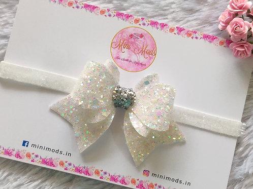 Princess Sparkle Bow - White