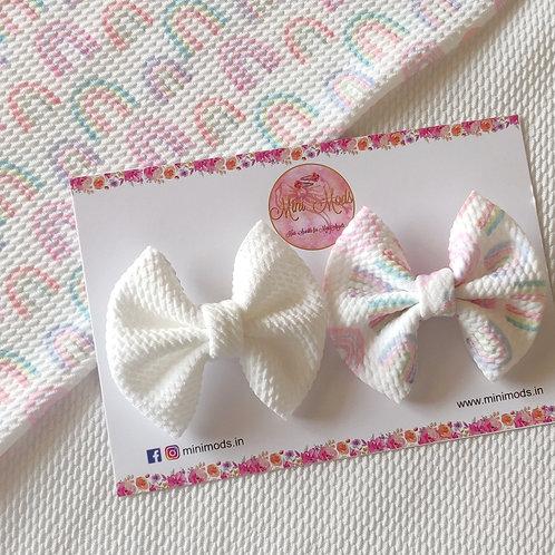 Watercolor Sweetheart Bow Set