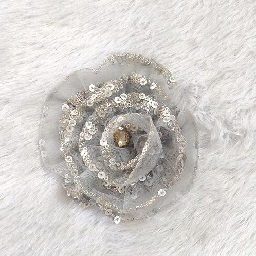 Fulwari Hair Clips - Greyish Silver