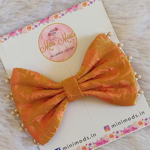 Banarasiya Bows -Peach