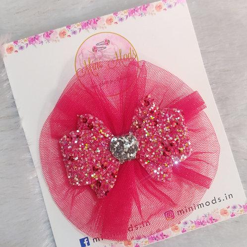 Glitter Fascino Hair Clip - Red