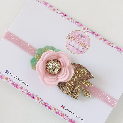 Flora headband -Pastel Pink