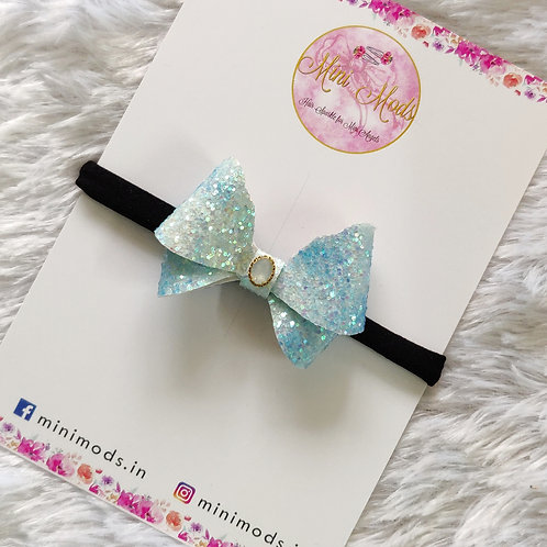 Aqua Butterfly Bow