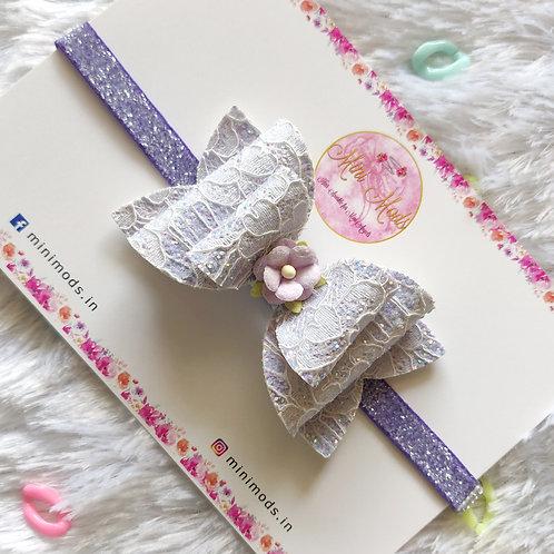 Pastel Lace Bows -Lavender