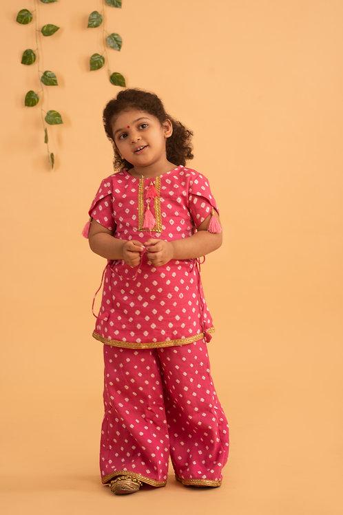 Idika Bandhani Set in Pink
