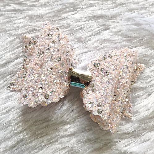 Sequence Glitter Bow - Peach