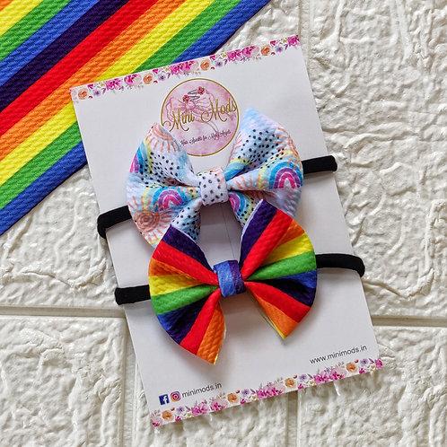Ditsy Rainbow Headband Set