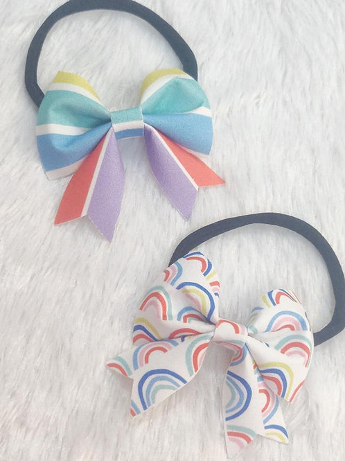 Pretty Rainbow Bow Set