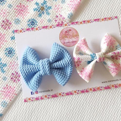 Snowflake Sweetheart Bow Set