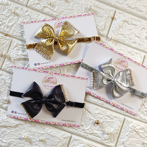 Metallics Pinwheel Headband Set