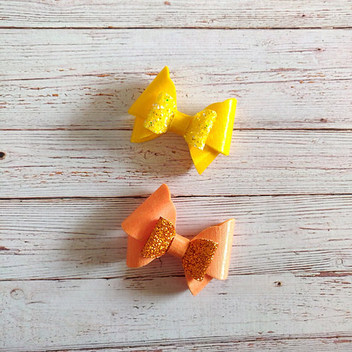 Butterfly Bow Set Orange & Yellow