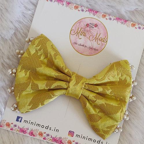 Banarasiya Bows - Pastel Yellow