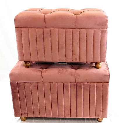Pink Velvet Storage Set