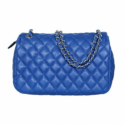 Palermo Royal Blue Padded Handbag