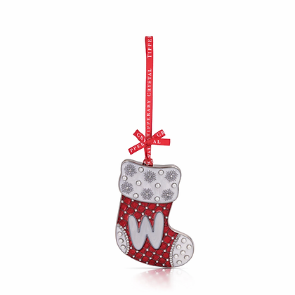 'W' Alphabet Stocking Decoration