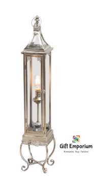 Antique silver lantern with led light
