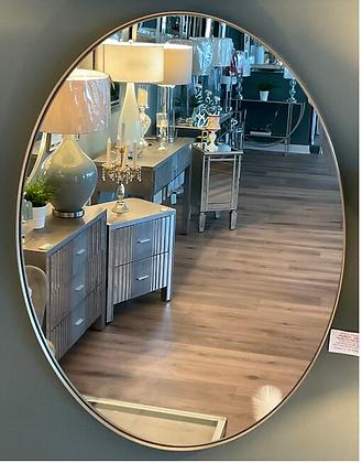 Emporium Oval Mirror Silver/Champagne