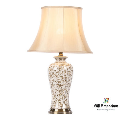 BLAKELY CERAMIC LAMP BRUSHED BRONZE 69CM