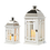 Thumbnail: Wooden lanterns white/chrome m/s