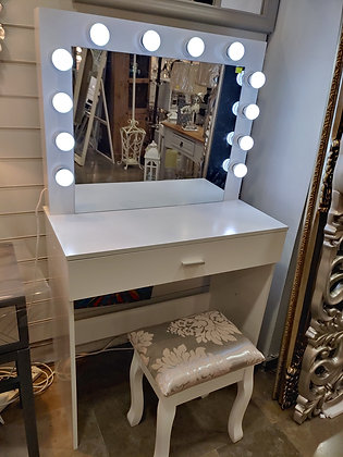 THE GRANGE COLLECTION LIGHTS DRESSING TABLE WITH STOOL