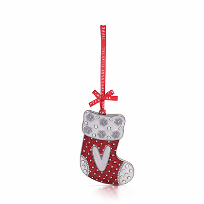 'V' Alphabet Stocking Decoration