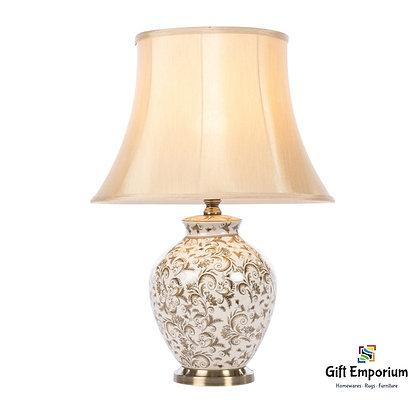 BLAKELY CERAMIC LAMP BRUSHED BRONZE 62CM