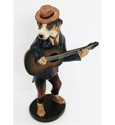 "14.5"" Dog with Guitar"