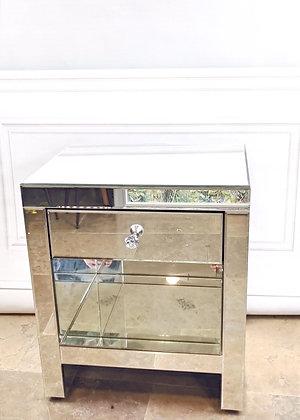 Mirrored 1 Drawer Locker