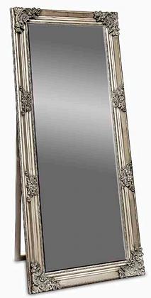 Antique Silver Standing Mirror