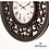 Thumbnail: Mirrored lattice clock brushed charcoal 65cm