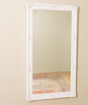 Antique White Leaner Mirror