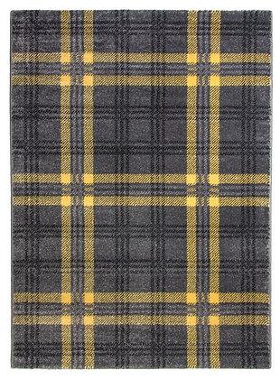 Glendale Tartan Rug-Grey/Yellow