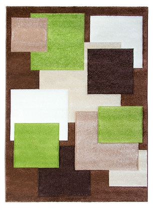 Tempo Square Rug-Brown/Beige/Green
