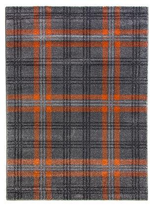 Glendale Tartan Rug-Grey/Terra