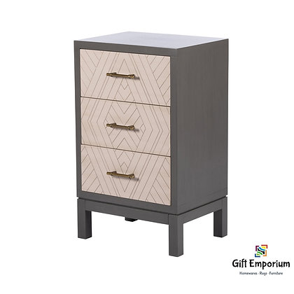 VANESSA 3 DRAWER LOCKER STONE GREY