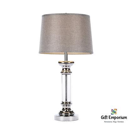ARISTA TABLE LAMP TEXTURED GREY SHADE 76CM